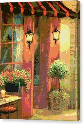 Courtyard Canvas Print by David Alvarez