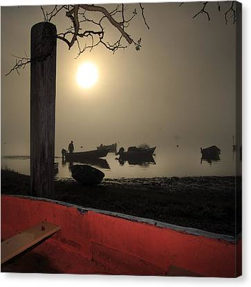 Cove Fog - Orleans Cape Cod Canvas Print by Dapixara Art