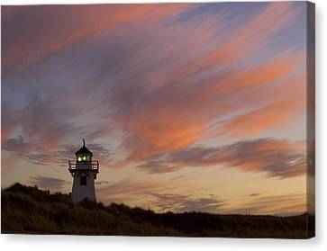 Covehead Lighthouse At Sunset, Prince Canvas Print by John Sylvester