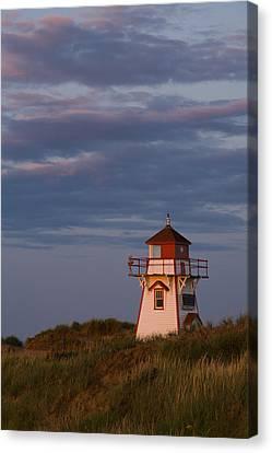 Covehead Lighthouse, Prince Edward Canvas Print by John Sylvester