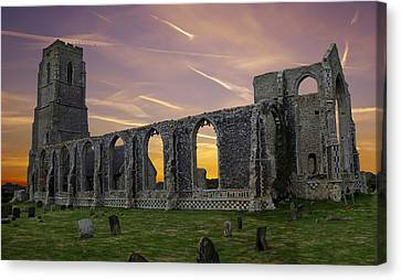 Canvas Print featuring the photograph Covehithe Abbey - Suffolk by Rod Jones