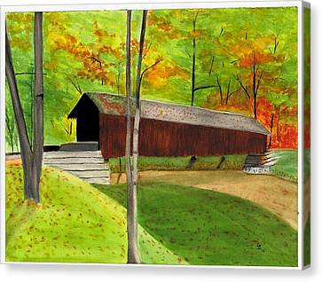 Covered Bridge 1 Canvas Print