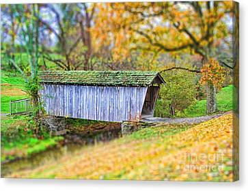 Covered Bridge Canvas Print by Darren Fisher