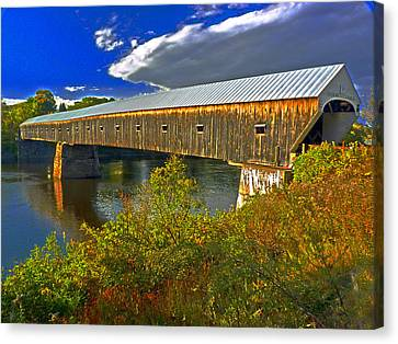 Canvas Print featuring the photograph Covered Bridge by William Fields