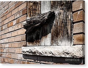 Covered Window Canvas Print