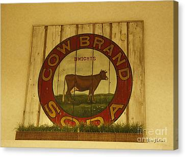Cow Brand Soda Signe Canvas Print by Yumi Johnson