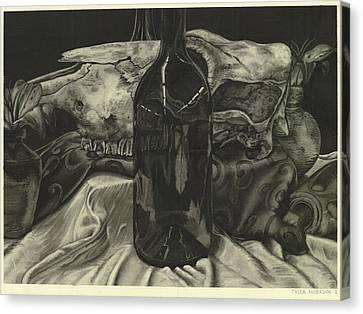 Cow Skull Still Life Canvas Print