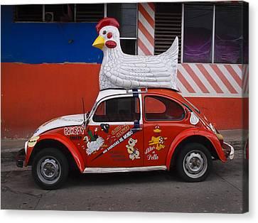 Cowboy Chicken Canvas Print by Skip Hunt