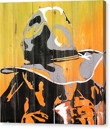 Cowboy Coffee Canvas Print