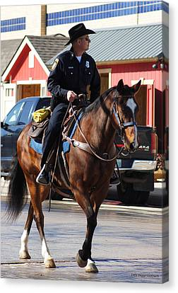 Cowboy Cop Canvas Print by DiDi Higginbotham