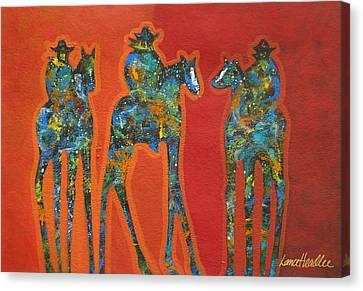Cowboy Splash Canvas Print by Lance Headlee