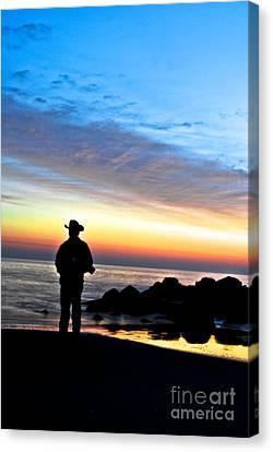Cowboy Sunrise Canvas Print
