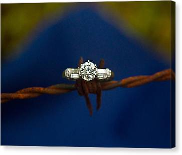 Cowgirl Engagement Ring 1 Canvas Print by Douglas Barnett