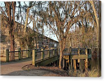 Cox Warehouse At Dusk Canvas Print by Sandra Anderson