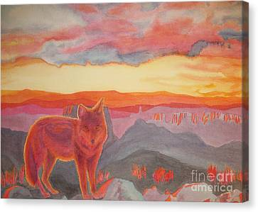 Coyote Cliff Canvas Print by Vikki Wicks