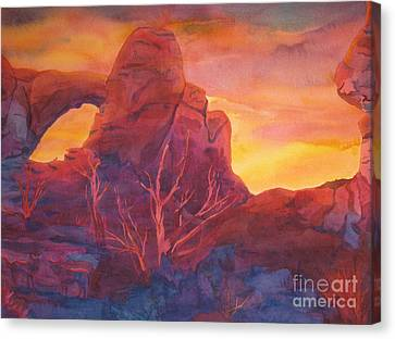 Coyote Dusk Canvas Print by Vikki Wicks