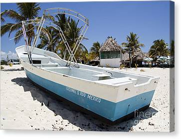 Canvas Print featuring the photograph Cozumel Mexico Fishing Boat by Shawn O'Brien