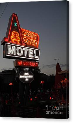 Cozy Cone Motel - Radiator Springs Cars Land - Disney California Adventure - 5d17742 Canvas Print by Wingsdomain Art and Photography