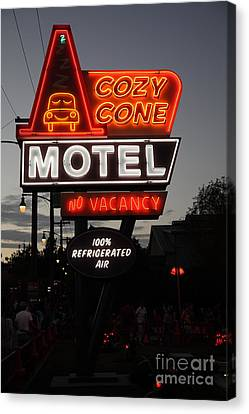 Cozy Cone Motel - Radiator Springs Cars Land - Disney California Adventure - 5d17744 Canvas Print by Wingsdomain Art and Photography