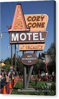 Cozy Cone Motel - Radiator Springs Cars Land - Disney California Adventure - Anaheim California - 5d Canvas Print by Wingsdomain Art and Photography