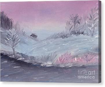 Cozy Winter Twilight Canvas Print