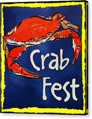 Blue Claw Crab Canvas Print - Crab Fest by Bill Cannon