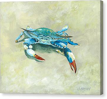 Crab On Beach Canvas Print