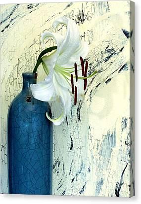 Cracklin Lily Canvas Print by Marsha Heiken
