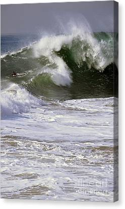 Crashing Wave Canvas Print by Timothy OLeary