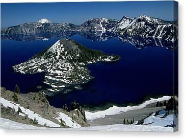 Crater Lake National Park, Oregon Canvas Print by Raymond Gehman