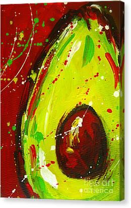 Interior Still Life Canvas Print - Crazy Avocado 3 - Modern Art by Patricia Awapara