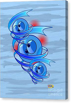 Crazy Blue Eyes Canvas Print by Rod Seeley