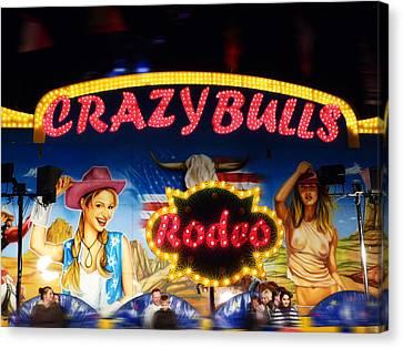Crazy Bulls Canvas Print by Charles Stuart