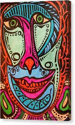 Crazy  Clown Canvas Print by Gerri Rowan