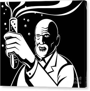 Crazy Mad Scientist Test Tube Canvas Print by Aloysius Patrimonio