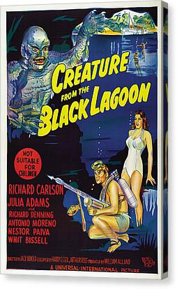 Creature From The Black Lagoon, Bottom Canvas Print by Everett