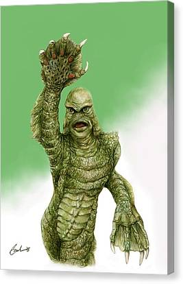 Creature From The Black Lagoon Canvas Print by Bruce Lennon