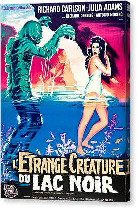 Creature From The Black Lagoon, On Left Canvas Print