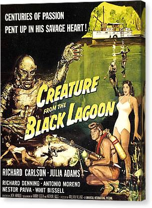 Creature From The Black Lagoon, Richard Canvas Print by Everett