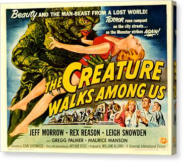 Creature Walks Among Us, The, Leigh Canvas Print by Everett