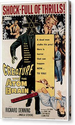 Creature With The Atom Brain, Center Canvas Print by Everett