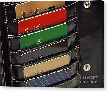 Credit Cards In Wallet Canvas Print by Blink Images