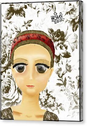 Creepy Face Canvas Print by Heizel Gonzalez
