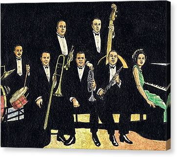 Creole Jazz Band Canvas Print by Mel Thompson