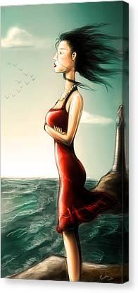Crepuscolo Sul Mare - Colour Version Canvas Print by Sasank Gopinathan