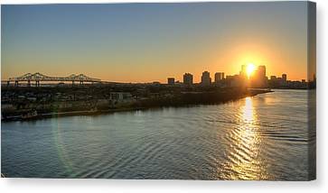 Canvas Print featuring the photograph Crescent City Sunset by Ray Devlin