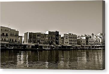Canvas Print featuring the photograph Crete Reflected by Eric Tressler
