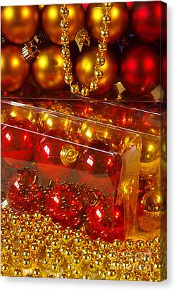 Crhistmas Decorations Canvas Print by Carlos Caetano