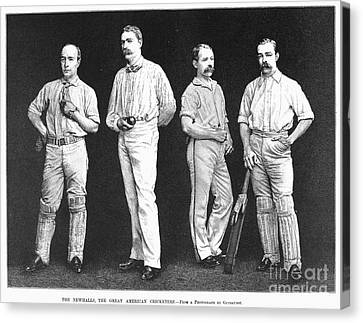 Cricket Players, 1889 Canvas Print