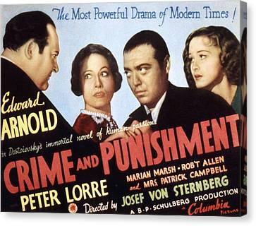 Crime And Punishment, Edward Arnold Canvas Print by Everett